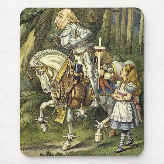 Alice in Wonderland King in Shining Armor Mouse Pad