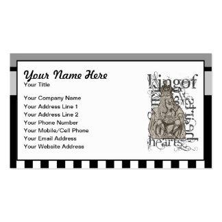 Alice In Wonderland King of Hearts Grunge Business Card