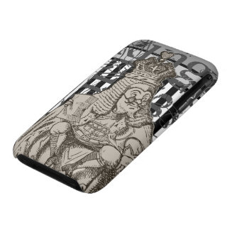 Alice In Wonderland King of Hearts Grunge Case-Mate iPhone 3 Case