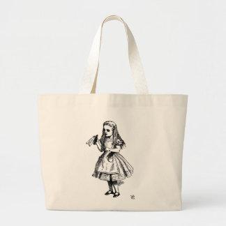Alice in Wonderland Large Tote Bag