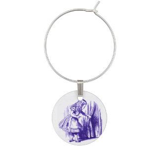 Alice in Wonderland Little Door Purple Wine Charm