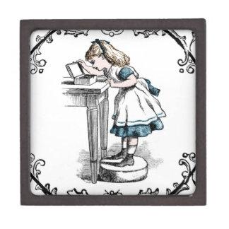 Alice In Wonderland Looking in Her Jewelry Box