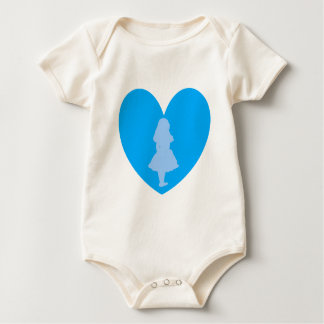 Alice in Wonderland Love Baby Bodysuit