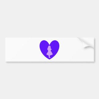 Alice in Wonderland Love Bumper Sticker