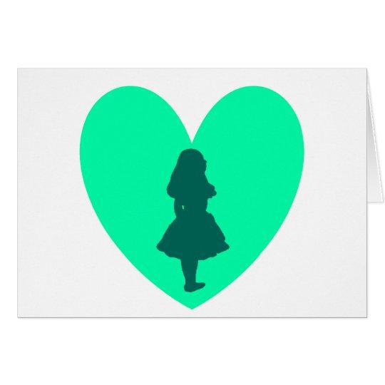 Alice in Wonderland Love Card