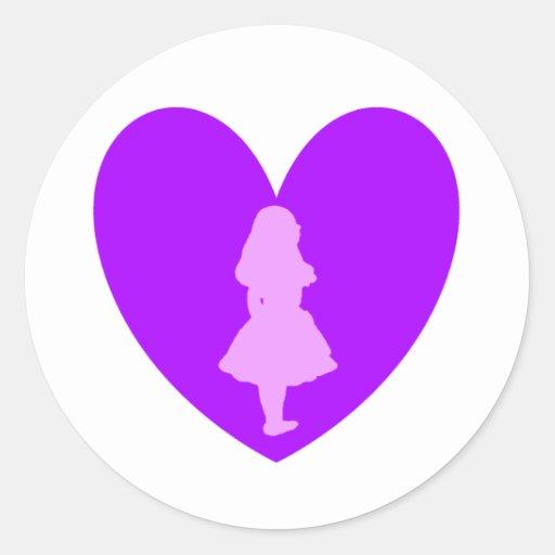 Alice in Wonderland Love Classic Round Sticker