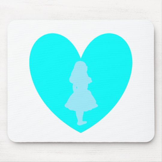 Alice in Wonderland Love Mouse Pad