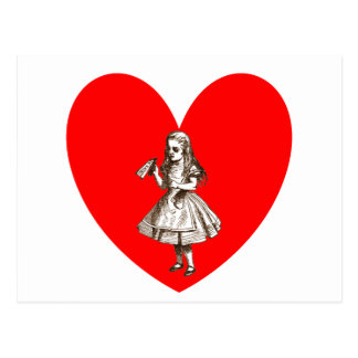 Alice in Wonderland Love Postcard