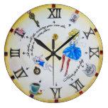 Alice in Wonderland mad  contraclockwise Wall Clocks