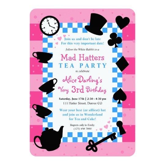 Mad Hatter Invitations Announcements Zazzle