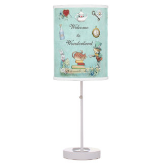 Alice in Wonderland Mad Hatter & Cheshire Cat Table Lamp