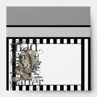 Alice In Wonderland Mad Hatter Grunge Envelopes