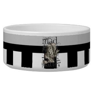 Alice In Wonderland Mad Hatter Grunge Pet Bowl