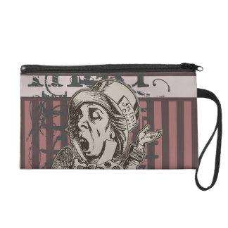 Alice In Wonderland Mad Hatter Grunge (Pink) Wristlet Purse
