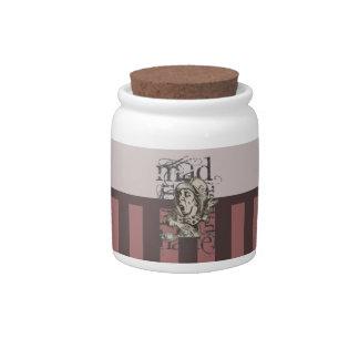 Alice In Wonderland Mad Hatter Grunge (Pink) Candy Jars