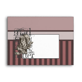 Alice In Wonderland Mad Hatter Grunge (Pink) Envelope