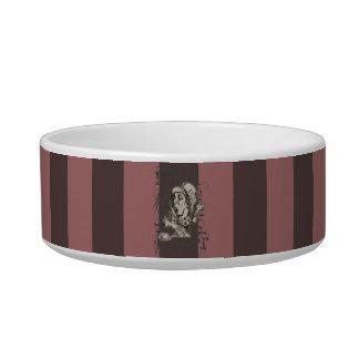 Alice In Wonderland Mad Hatter Grunge (Pink) Pet Water Bowls