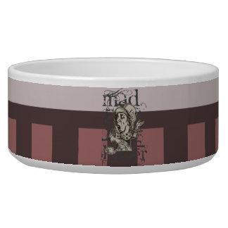 Alice In Wonderland Mad Hatter Grunge (Pink) Dog Bowl