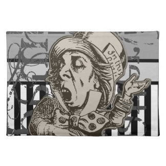 Alice In Wonderland Mad Hatter Grunge Place Mat
