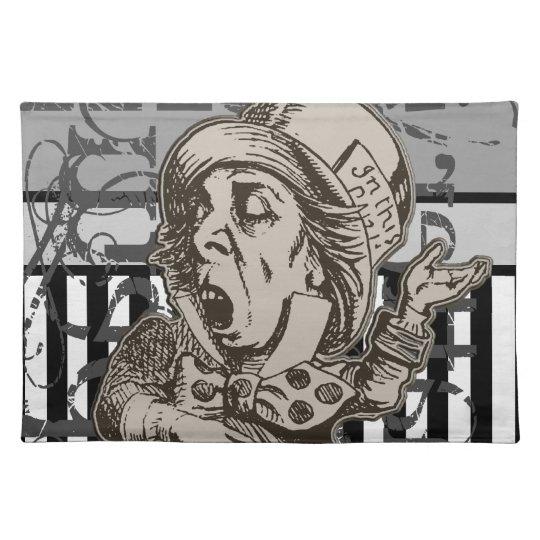 Alice In Wonderland Mad Hatter Grunge Placemat