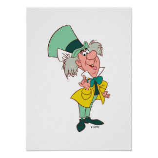Alice in Wonderland Mad Hatter standing talking Poster