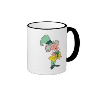 Alice in Wonderland Mad Hatter standing talking Ringer Mug