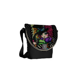 Alice in Wonderland Mad Hatter Tea Party Art Messenger Bag