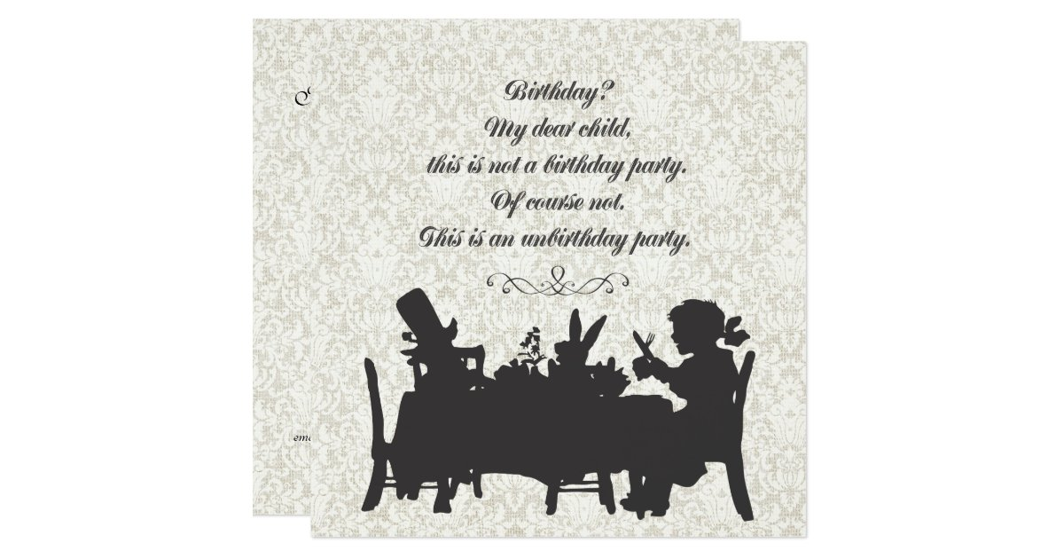 Mad Hatter Tea Party Invitations – gangcraft.net