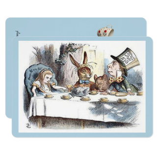 Alice in Wonderland, Mad Hatter Tea Party Card