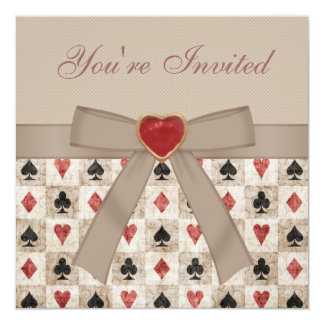Alice in Wonderland Mad Hatter Tea Party 5.25x5.25 Square Paper Invitation Card