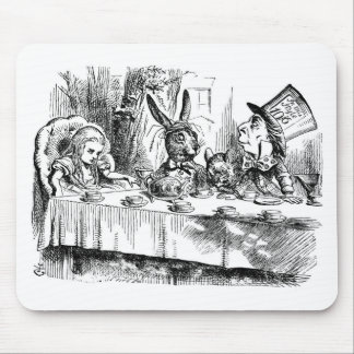 Alice In Wonderland Mad Hatter Tea Party Mousepad