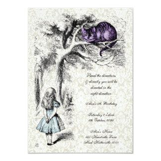 "Alice in Wonderland Mad Hatters Tea Party Birthday 4.5"" X 6.25"" Invitation Card"