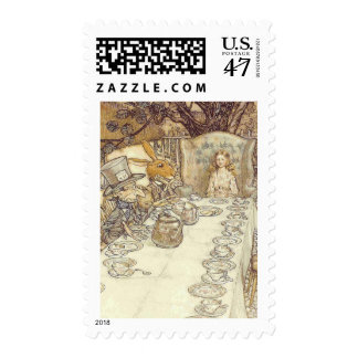 Alice in Wonderland - Mad Hatters Tea Party Postage
