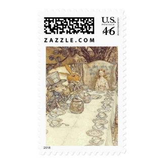 Alice in Wonderland - Mad Hatters Tea Party Postage Stamp