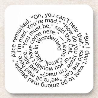 Alice in Wonderland Mad quote coaster set of 6