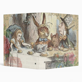 Alice in Wonderland Mad Tea Party Vinyl Binder