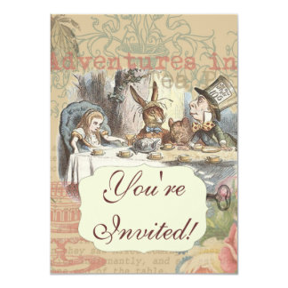 Alice in Wonderland Mad Tea Party Card