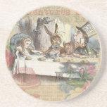 Alice in Wonderland Mad Tea Party Beverage Coasters