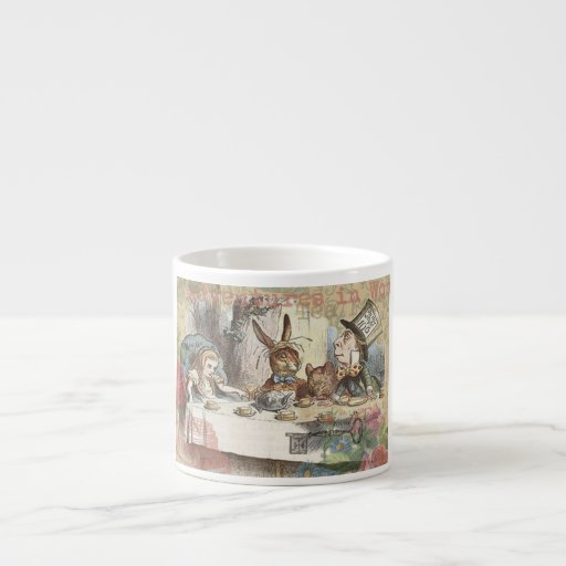 Alice in Wonderland Mad Tea Party Espresso Mugs