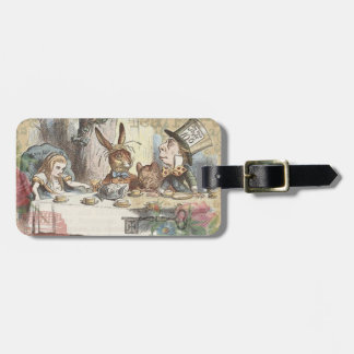 Alice in Wonderland Mad Tea Party Luggage Tag