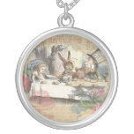 Alice in Wonderland Mad Tea Party Round Pendant Necklace