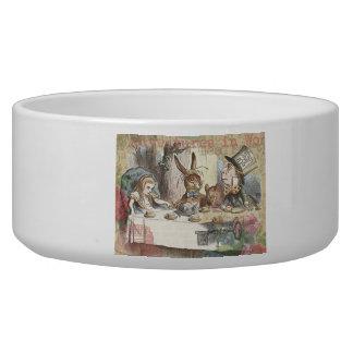 Alice in Wonderland Mad Tea Party Dog Bowls