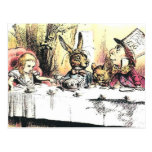 Alice in Wonderland Mad Tea Party Postcard