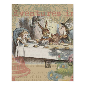 Alice in Wonderland Mad Tea Party Poster