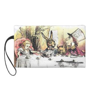 Alice in Wonderland Mad Tea Party Purse Wristlet Clutches