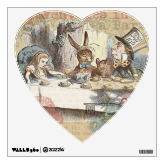 Alice in Wonderland Mad Tea Party Wall Stickers