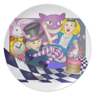 Alice in Wonderland Melamine Plate