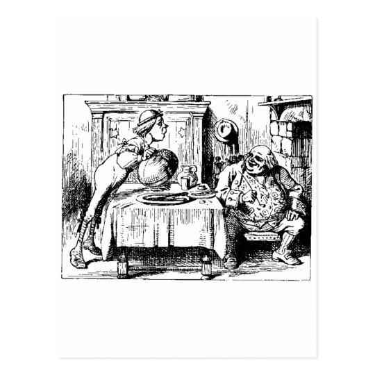 Alice in Wonderland Men Postcard