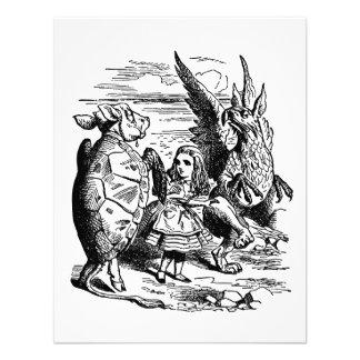 Alice in Wonderland; Mock Turtle, Gryphon, Alice Custom Announcements