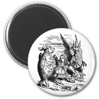 Alice in Wonderland Mock Turtle Gryphon Alice Magnets